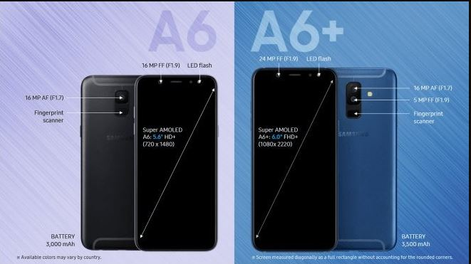 Samsung A6 A6+ Price & Specs Exposed