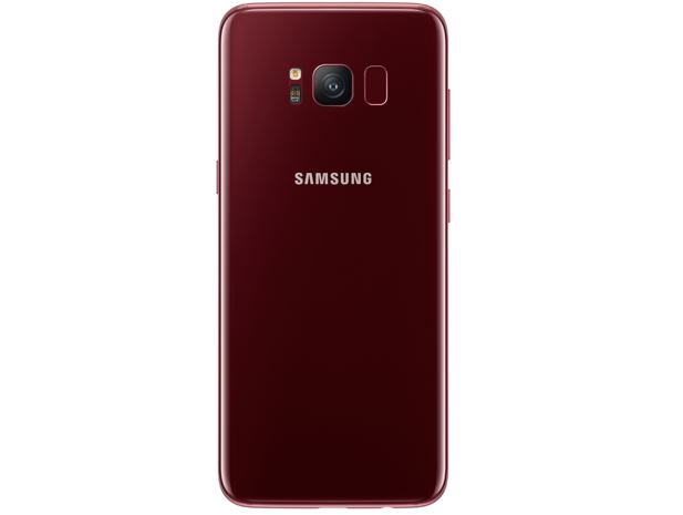 Samsung Galaxy S8 Burgundy Red Color back side