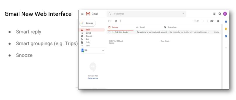 Top New Gmail web Interface features
