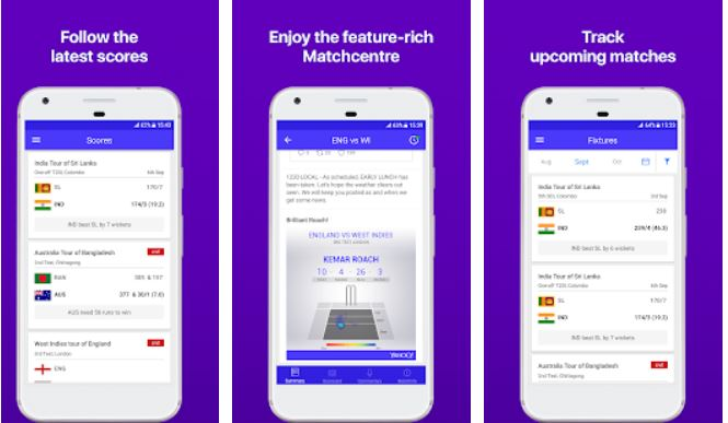 Yahoo Cricket App New features