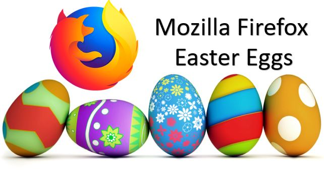 firefox about easter eggs, commands, pages, hiiden commands and settings