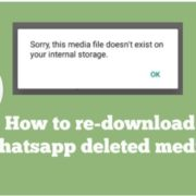 how to Redownload Deleted media on WhatsApp
