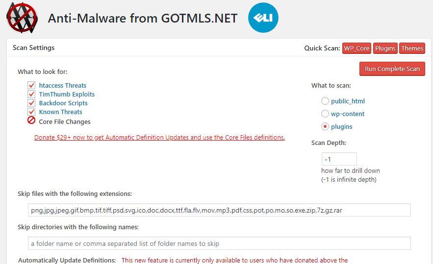 wordpress malware scan plugin