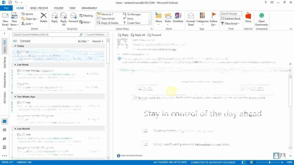 Microsoft Outlook to send emails