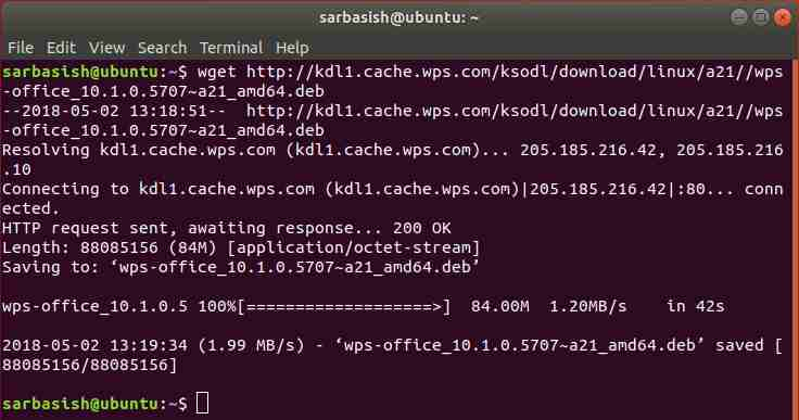 How to install WPS office on Ubuntu Linux via command terminal