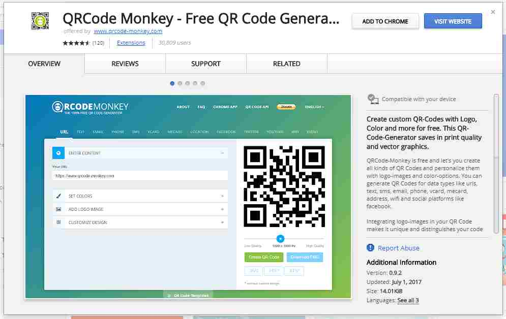 R Code Monkey Chrome app extension