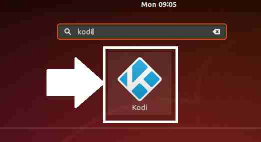 Opening Kodi on Ubuntu Linux