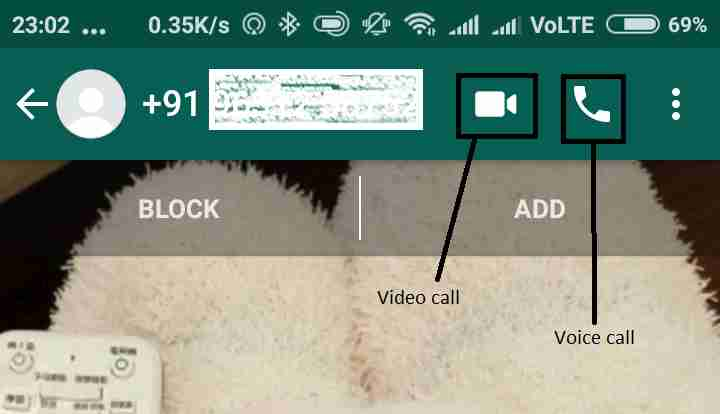 Calling numbers without saving in Whatsapp