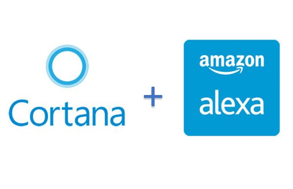 Amazon alexa with Microsoft Cortana