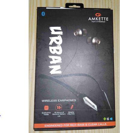 Amkette Urban Bluetooth earphones box