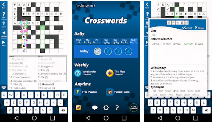 Astraware Crossword app games