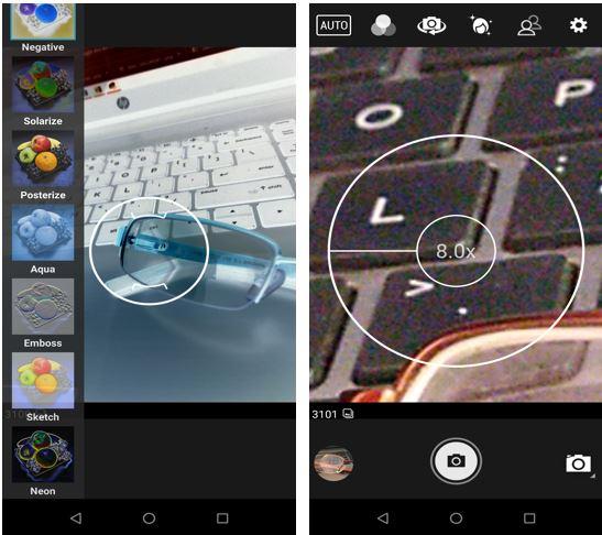 Asus zenfone Max pro M1 camera app filters