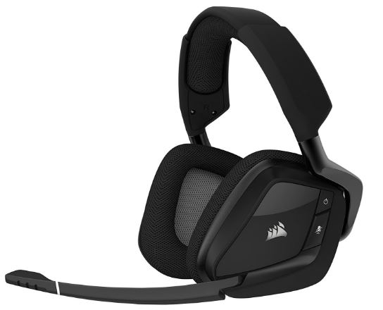 CORSAIR VOID PRO RGB Wireless Gaming Headset with DOLBY HEADPHONE 7.1 Surround Sound for PC – Carbon