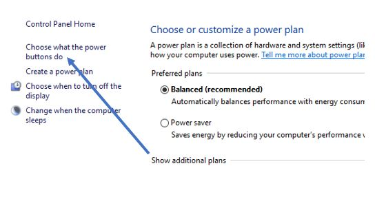 Choose or customize a power plan windows 10