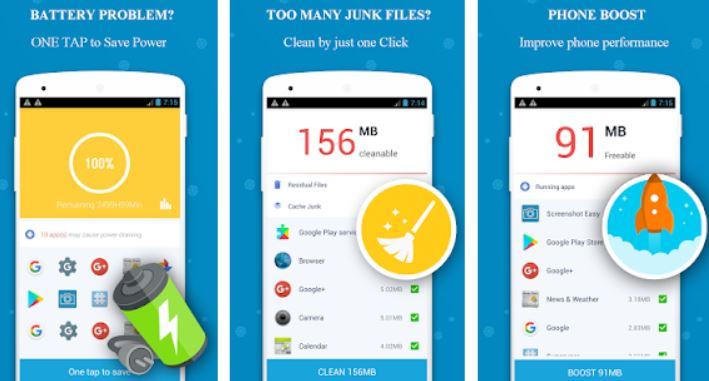 Cool down your phone, Cooler, Auto Detect Temperature, Battery Saver, Junks clean, Phone Booster