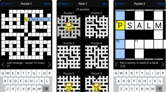 Cryptic Crossword app