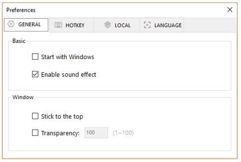Easy screen free software Hot keys settings