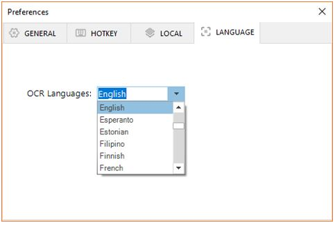Easy screen free software language settings