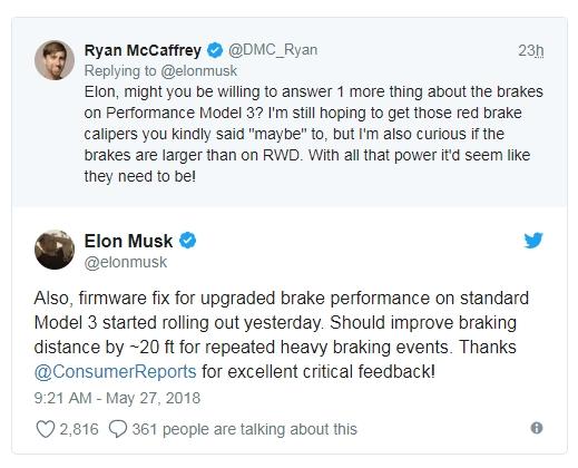 Elon musk tesla model 3 firmware update