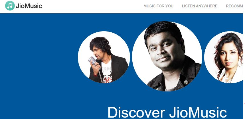 Jio music best music streaming service in India