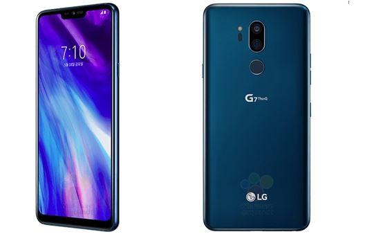 LG G7 smartphone blue