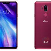 LG G7 smartphone rose
