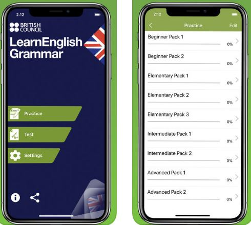 LearnEnglish Grammar (UK Edition) app to learn english