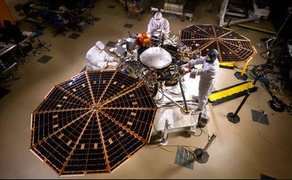 Mars InSight Solar Panels Open
