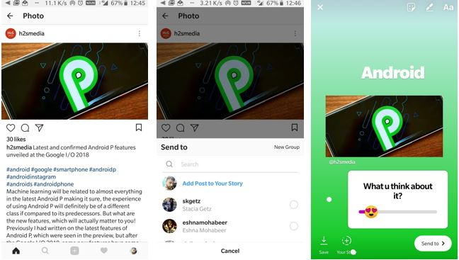 Now share you feed post to Instagram stories