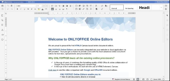 Onlyoffice docs free Google docs-alternative