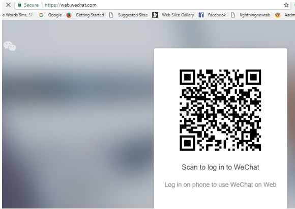 Scan to log in to WeChat web login with phone on windows 10