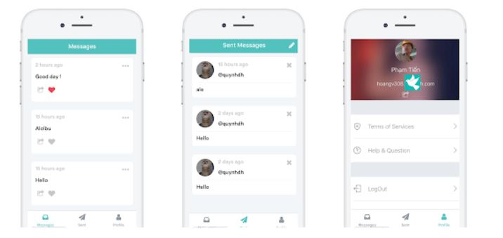 Stulish anonymous messaging app
