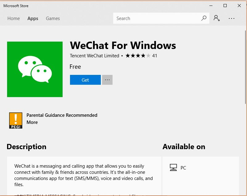 WChat for Windows