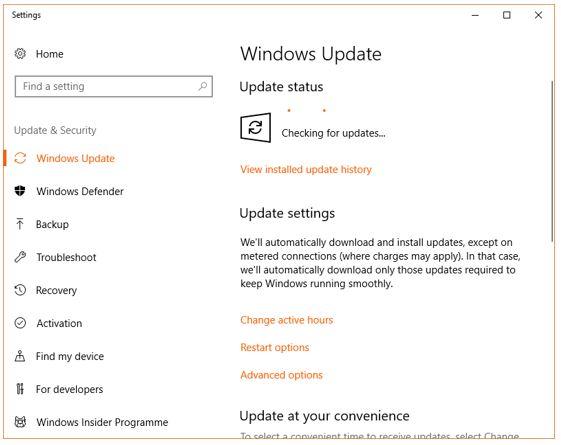 WIndows update April 12018 manually