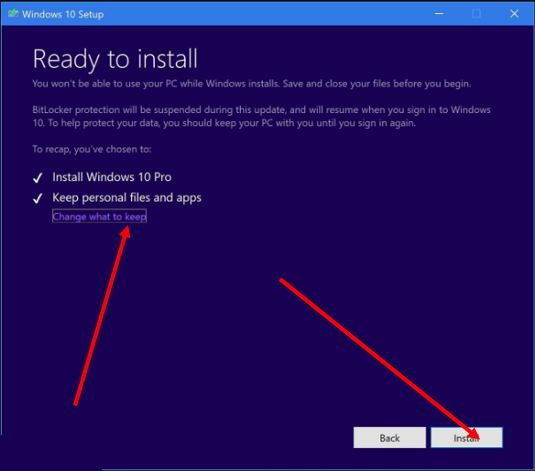 Windows 10 update is ready to install