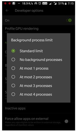 background process limit
