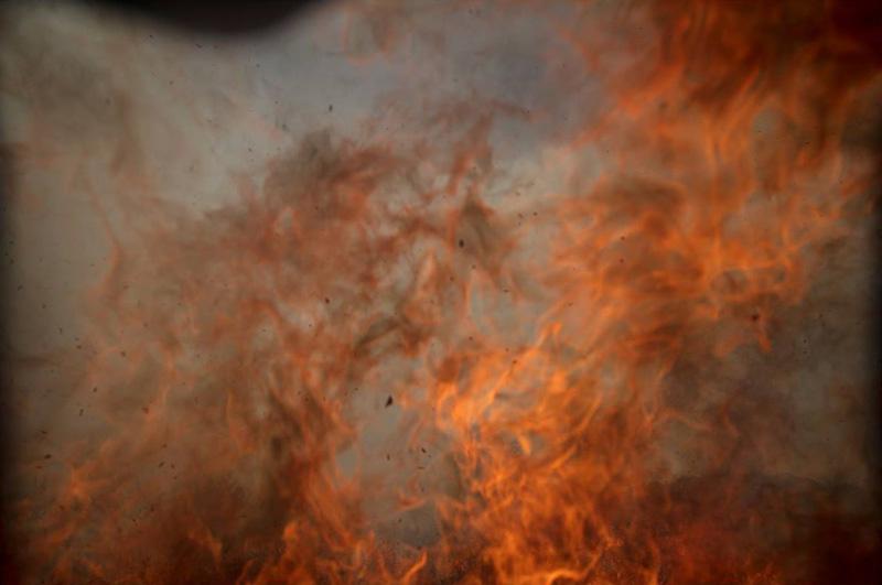 camera own burning flame of nasa falcon 9