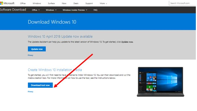 how to use Media Creation tool for Windows 10 upgrade
