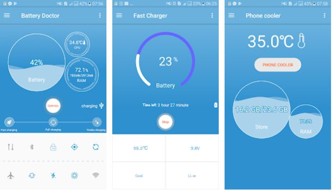 phone cooler & battery saver Android app