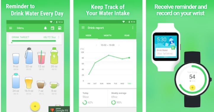 waterdrink-top lifestyle apps for Android,