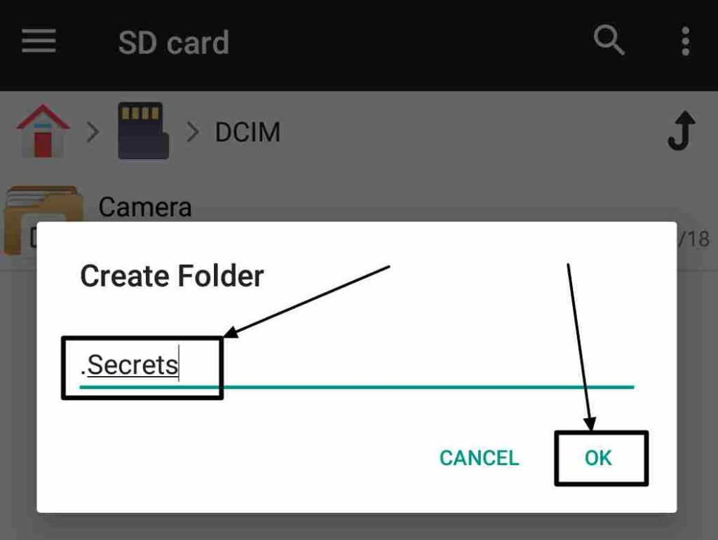 hidden folder android