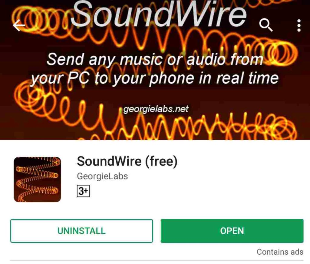 SoundWire Android app