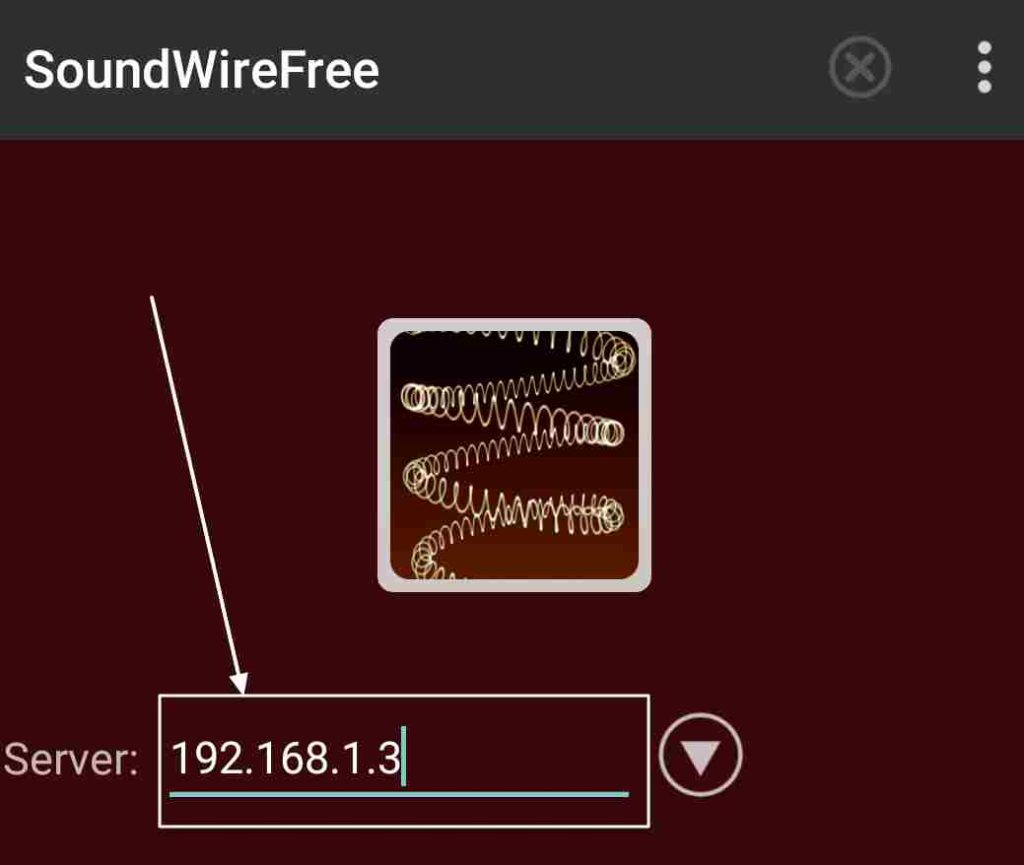 SoundWire Free app on your Android