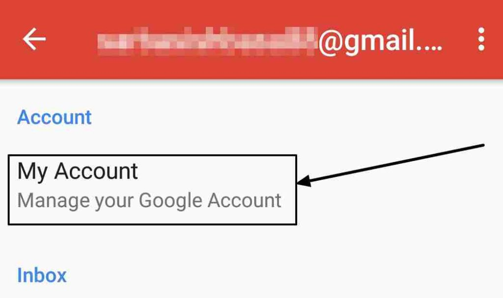 manage my gmail account on the Android
