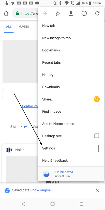 Chrome autofill settings on Android
