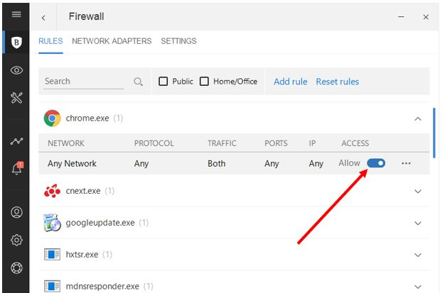 Bitdefender blocked application