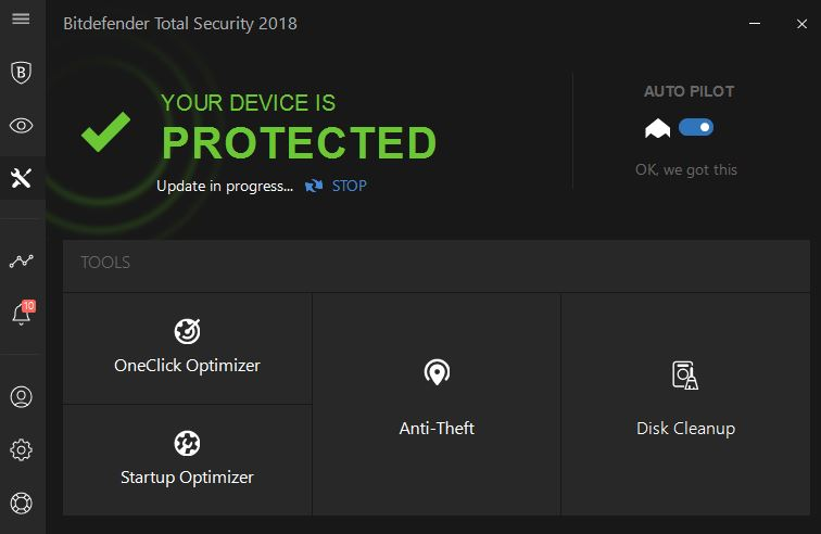 Bitdefender total security optimization