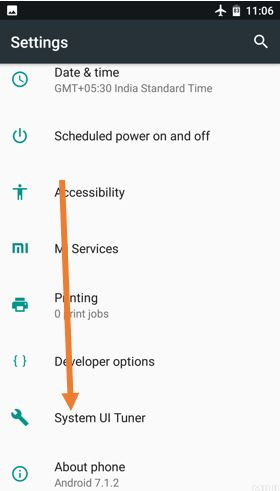 ENable System tuner UI in Xiaomi MI A1