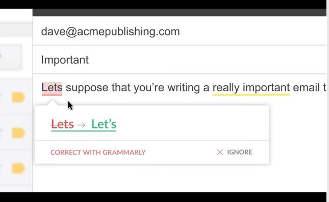 Grammarly for chrome extensions