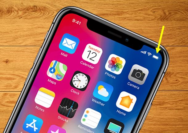 How to get and show battery percentage in iPhone x, 8, 7, 6 and so on..